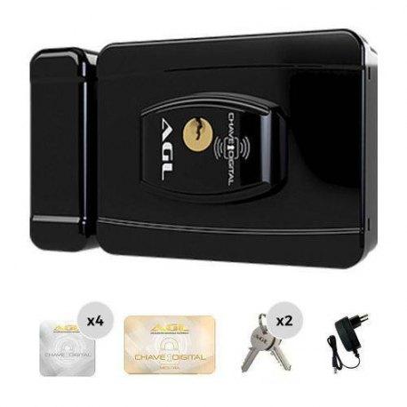 Fechadura Elétrica AGL Smart Card (12 volts) Preta
