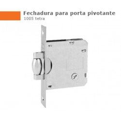 Fechadura Stam Rolete 1005 (Tetra) Ros. Quad. Cromo Escovado